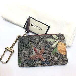 Gucci Tian print GG Supreme canvas key case